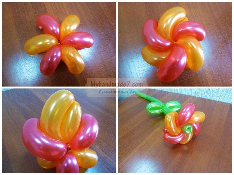 Букеты из шаров: делаем своими руками