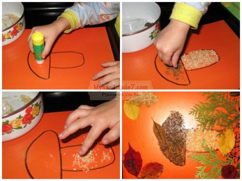 Поделки из крупы своими руками для детей: пошаговые мастер-классы с фото