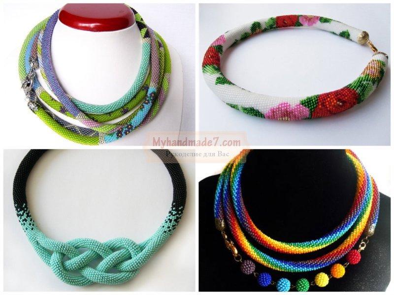 Колье из бисера: схемы и мастер-классы по плетению
