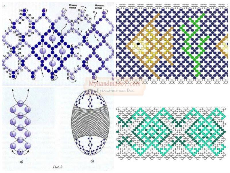 Плетение бисером. схемы