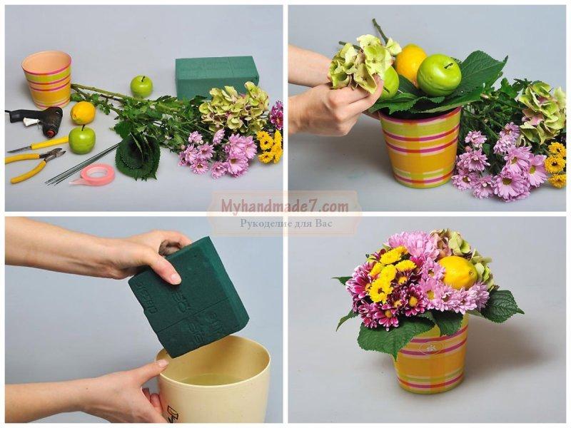 Цветочные композиции своими руками: составляем вместе. Советы и идеи