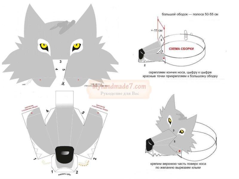 Маска волка: делаем своими руками. Фото и идеи