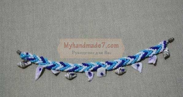 Легкий браслет из бисера в морском стиле
