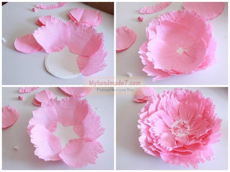 Цветы из гофрированной бумаги своими руками пошагово с фото
