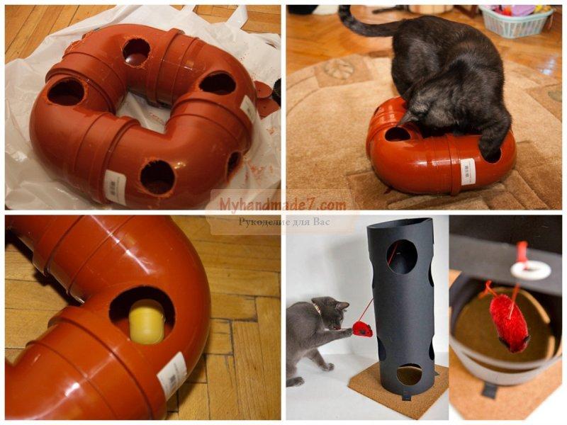 Игрушки для котов и кошек своими руками 10