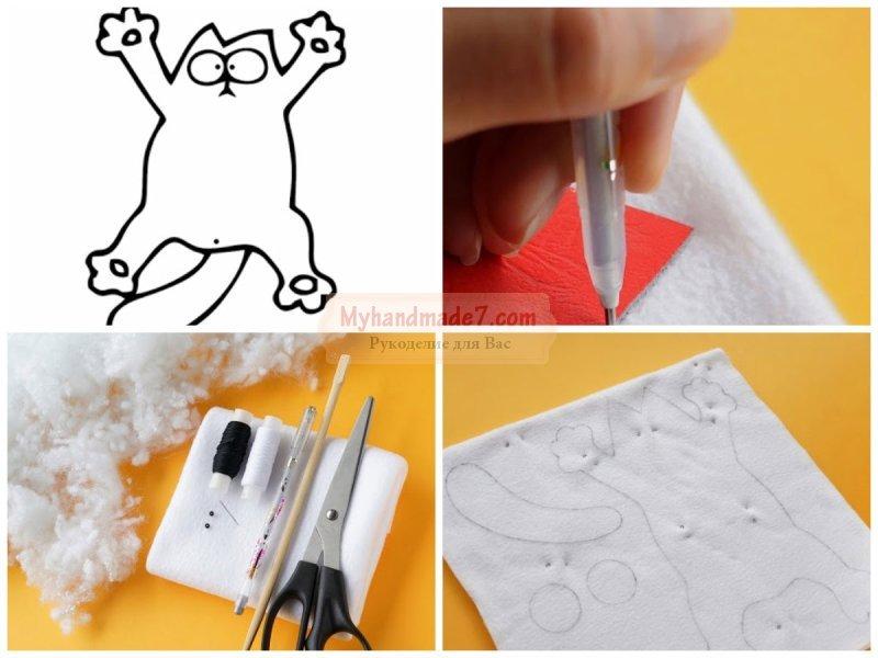 Кот своими руками: выкройка и инструкция по шитью
