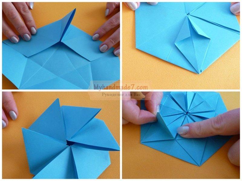 Поделки оригами снежинки - самые простые и красивые