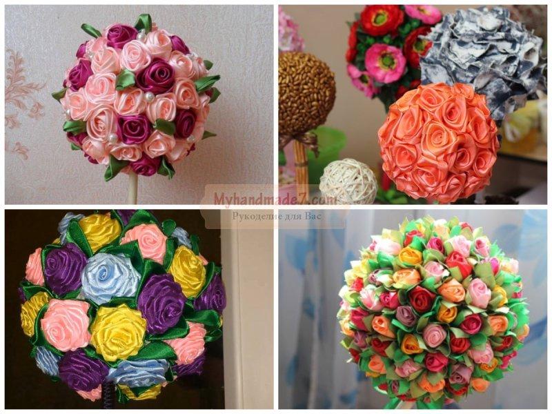 Цветы из атласных лент своими руками: лучшие мастер-классы с фото