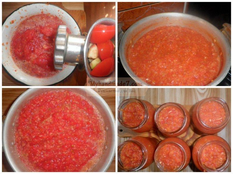 Приготовление аджики из помидоров в домашних условиях