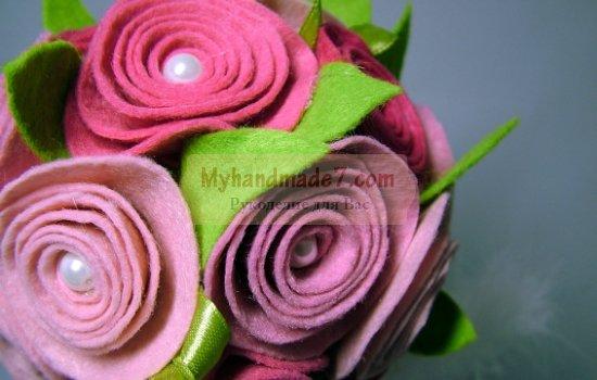Цветы из фетра своими руками: шаблоны и фото. 20 идей