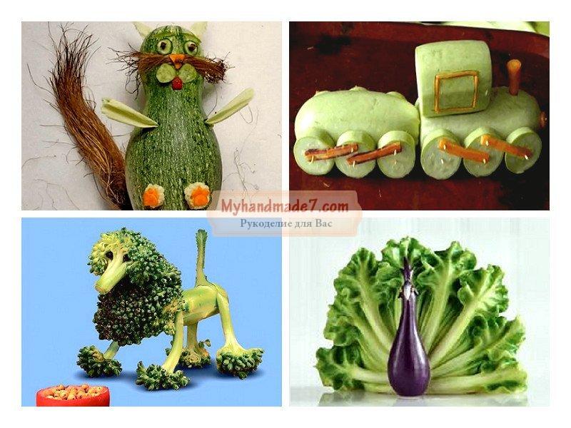 Детские поделки из овощей: детский сад и школа
