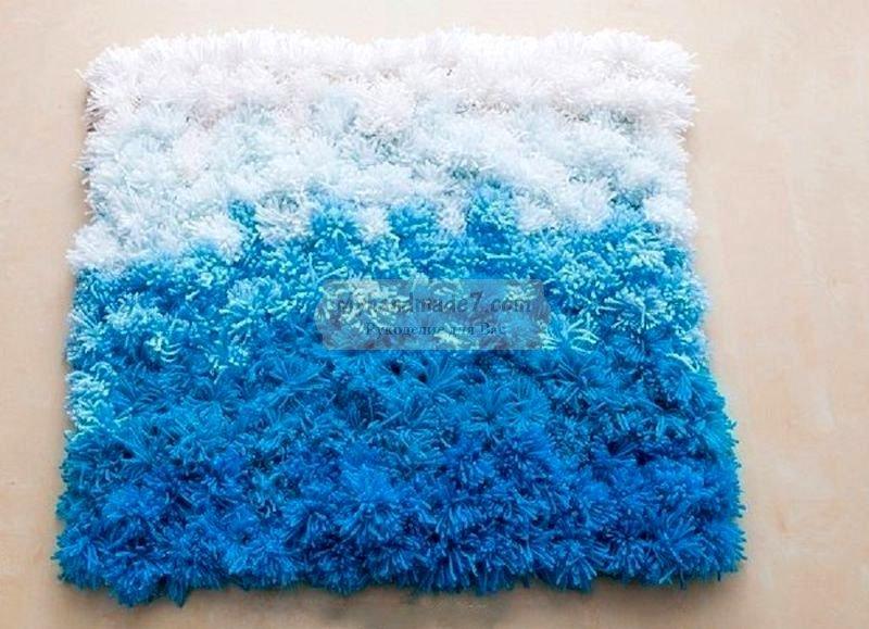 Вяжем оригинальные коврики для дома