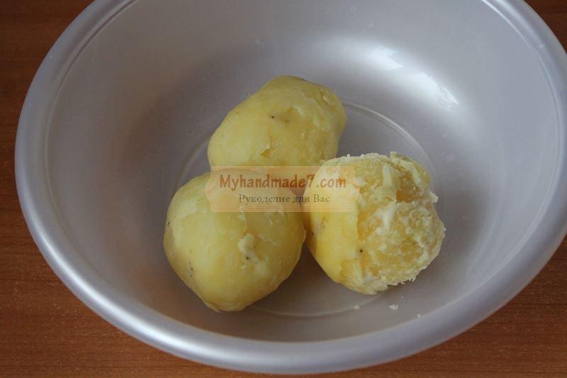 котлеты из картофеля и вешенок