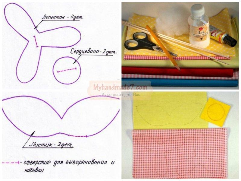 Цветы из ткани своими руками: мастер классы. Фото и идеи
