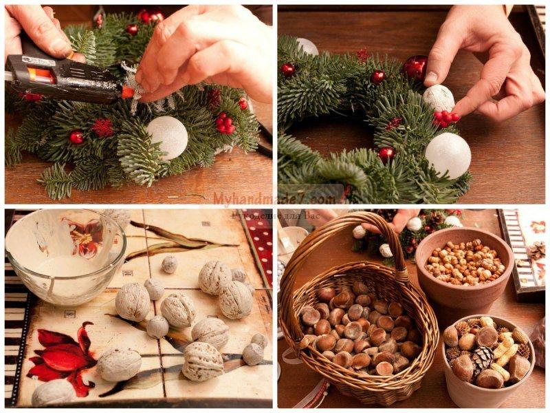 Делаем рождественский венок своими руками. Пошаговые мастер-классы