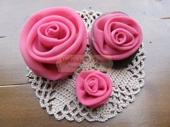 Розы из ткани своими руками. Варианты для начинающих