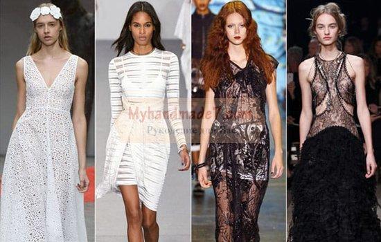 Самые модные тенденции платьев 2017