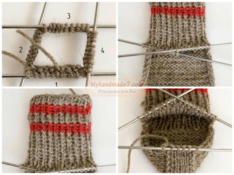 Пятка вязание для начинающих
