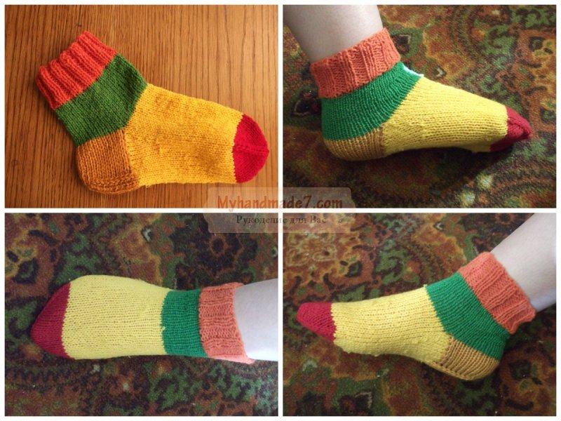 Вязания детских носков 40
