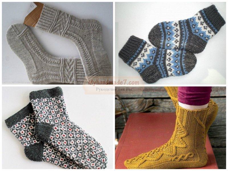 Носки спицами для начинающих: мастер-классы пошагово с фото
