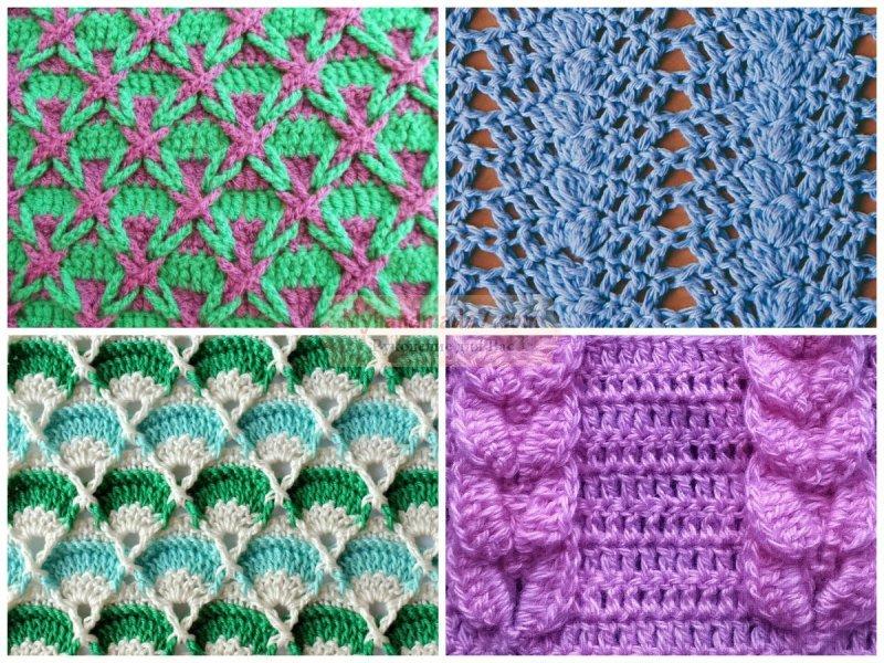 ажурные шарфы крючком схемы и описание