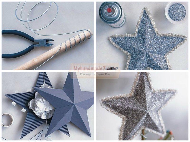 Звезда на елку из бумаги своими руками: шаблоны и схемы. Подробные мастер-классы с фото