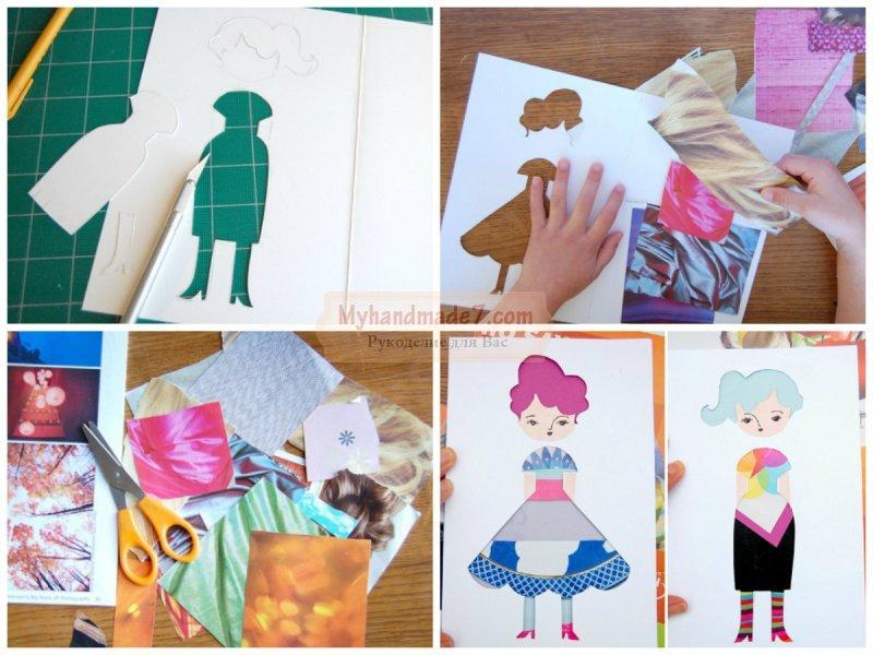 Как сделать из бумаги куклу своими руками: пошаговые мастер-классы с фото