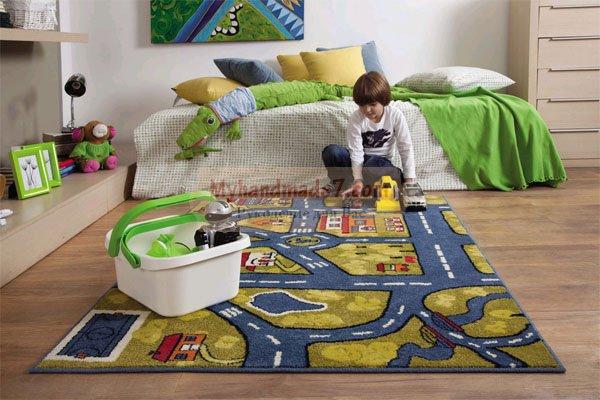 Как выбрать качественный ковер для мальчика с дорогами?