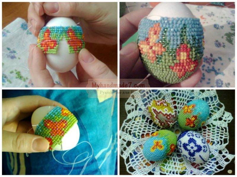 Пасхальные яйца из бисера. Как плести и декорировать?