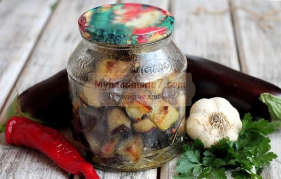 Баклажаны под грибы. Как заготовить на зиму?