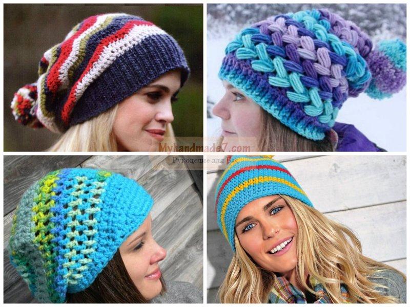Вязание шапок с описанием Отличные женские