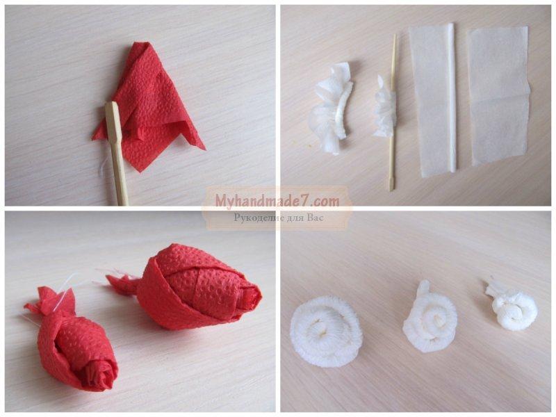 Как сделать розу из салфетки? Пошаговые мастер-классы с фото