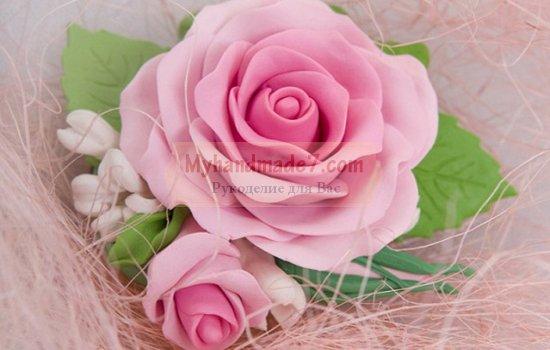 Розы из фоамирана: делаем вместе. Пошаговые мастер-классы с фото