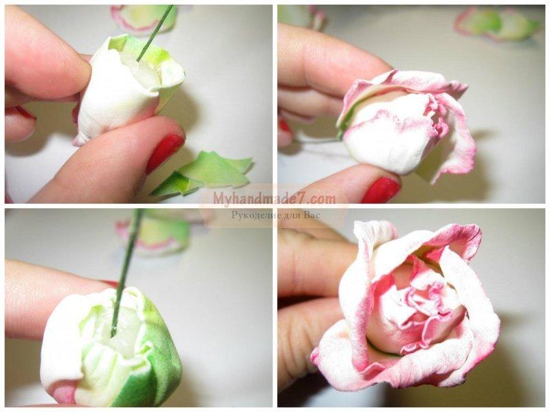 Розы из фоамирана своими руками с пошаговым 148