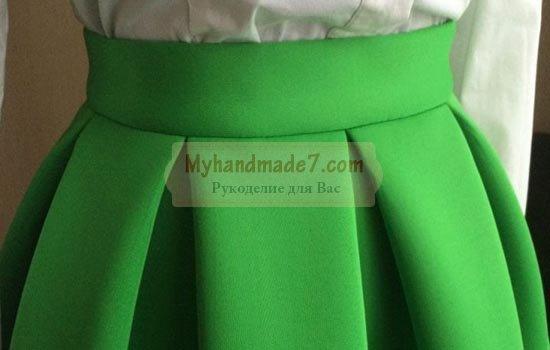 Юбка со складками: выкройка и описание по пошиву