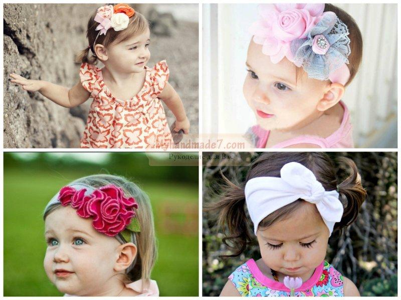 Повязочки для девочек своими руками фото