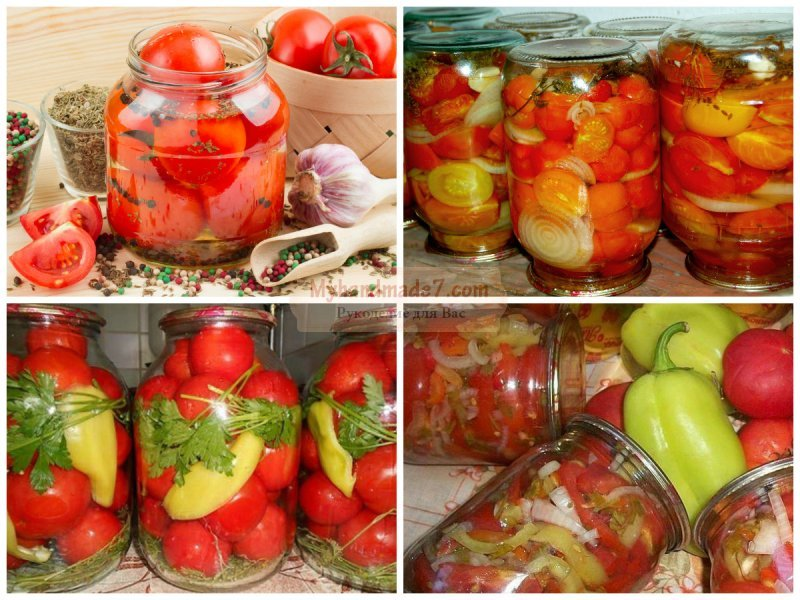 Заготовки из томатов на зиму в домашних условиях 594