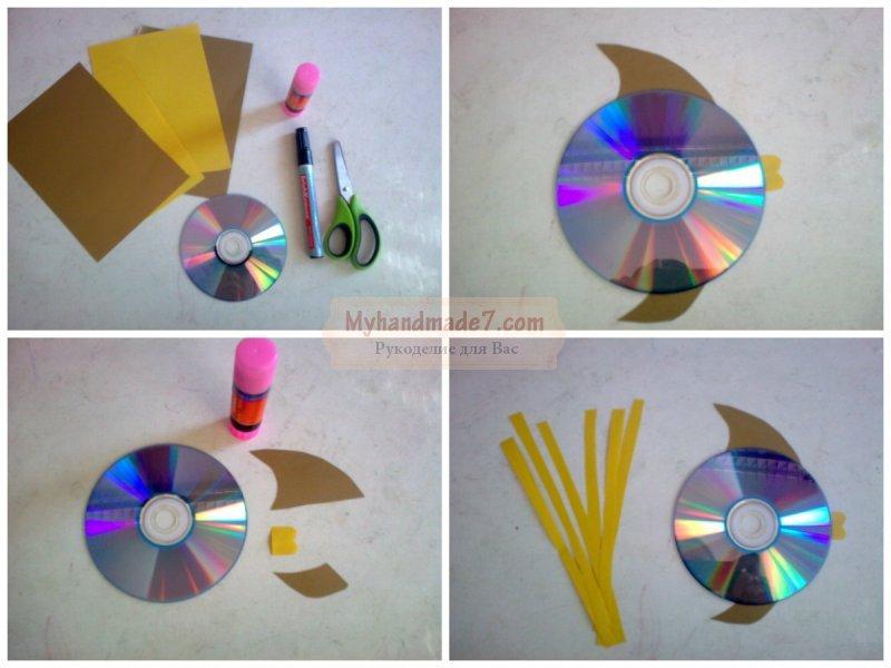 Значки из дисков своими руками 29