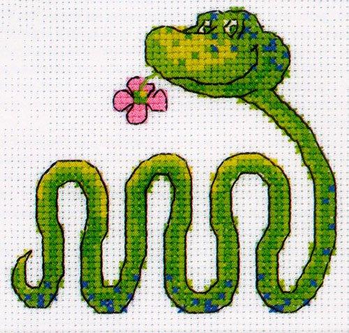 Вышивка крестом змейка