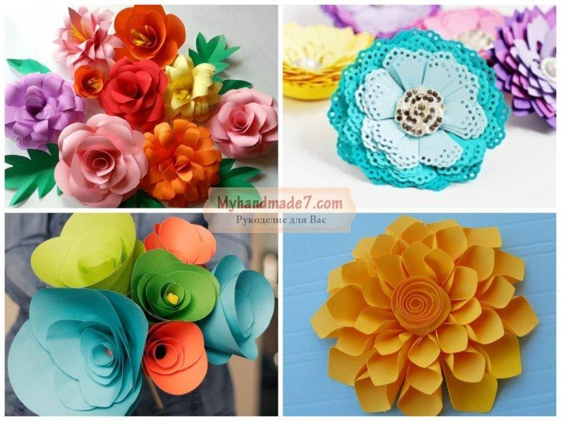 Цветы из бумаги своими руками шаблоны 816