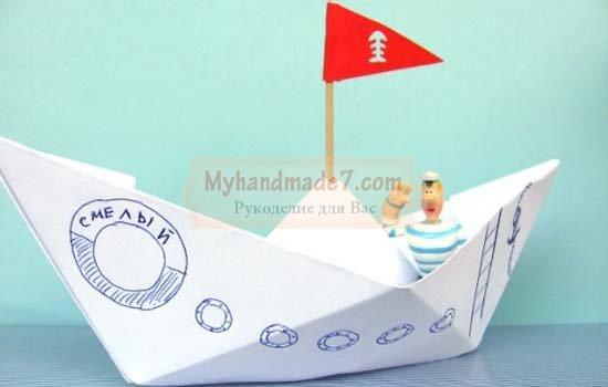 Оригами кораблик из бумаги: лучшие мастер-классы с фото