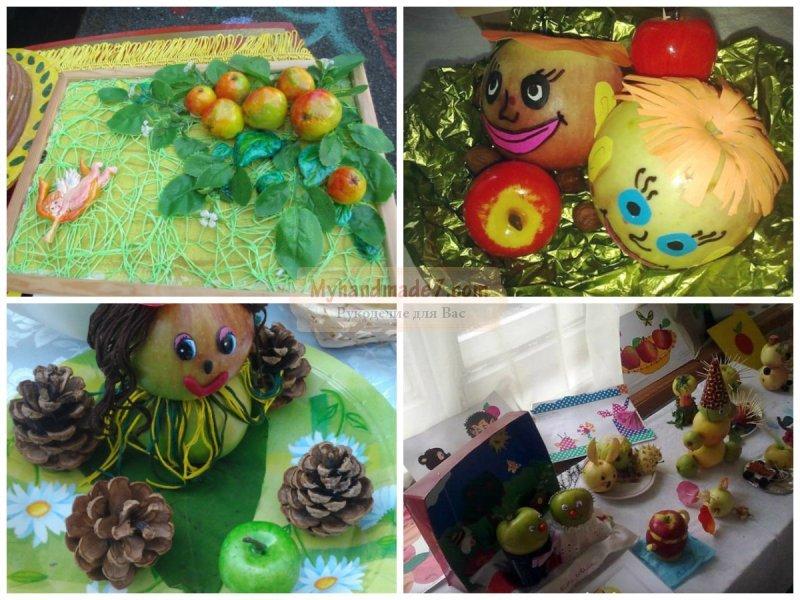 Яблочный спас поделка для детского сада 25