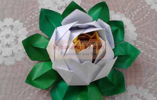 Оригами - цветок лотоса
