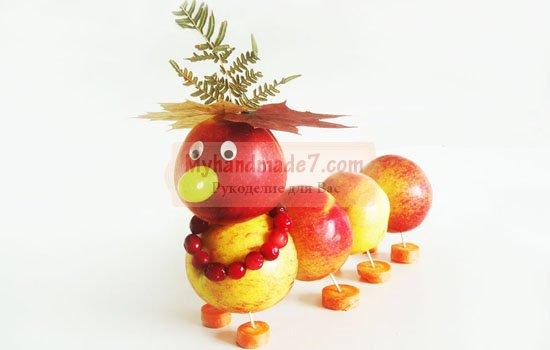 Поделки из фруктов своими руками: лучшие идеи с фото