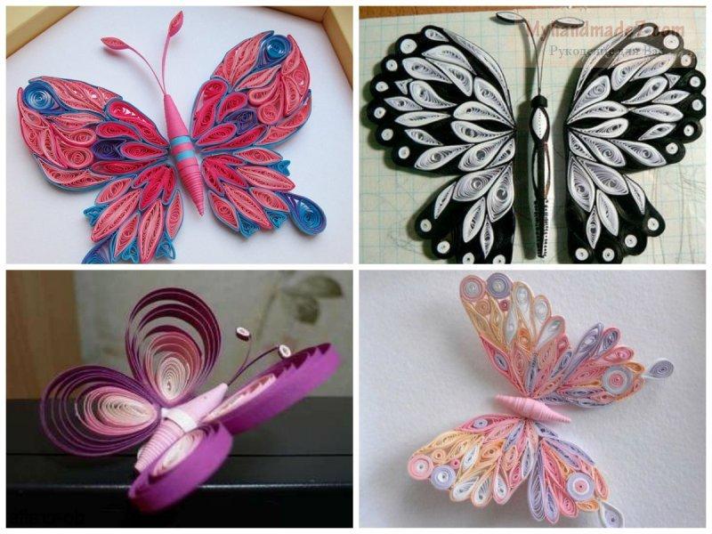 Бабочка объемная из бумаги своими руками фото 428
